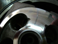 Cavitation damage example - valve plate from a hydraulic motor