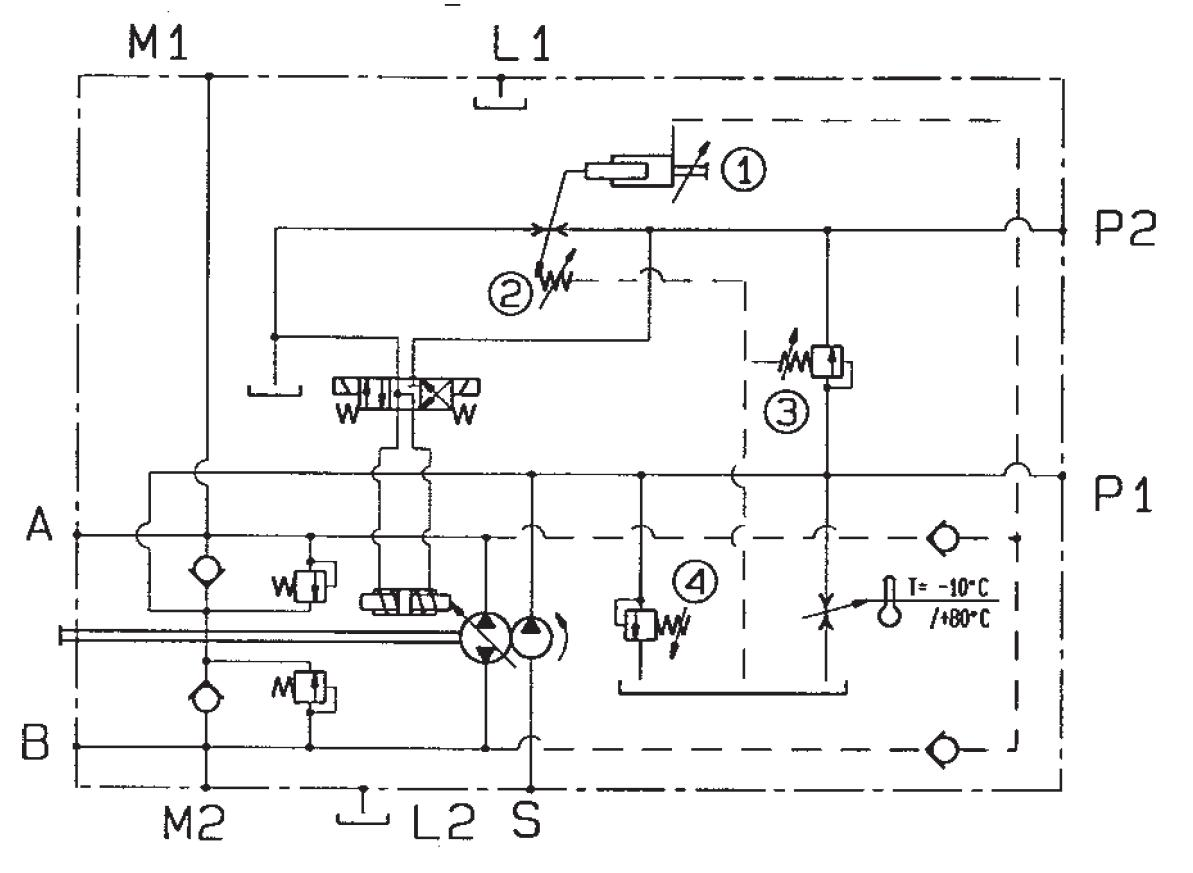Rexroth Hydraulic Motor Diagram Free Wiring For You Parker Pump Hp With Automotive And Pressure Compensator Control Rh Insanehydraulics Com Splined Shaft Bent Axis